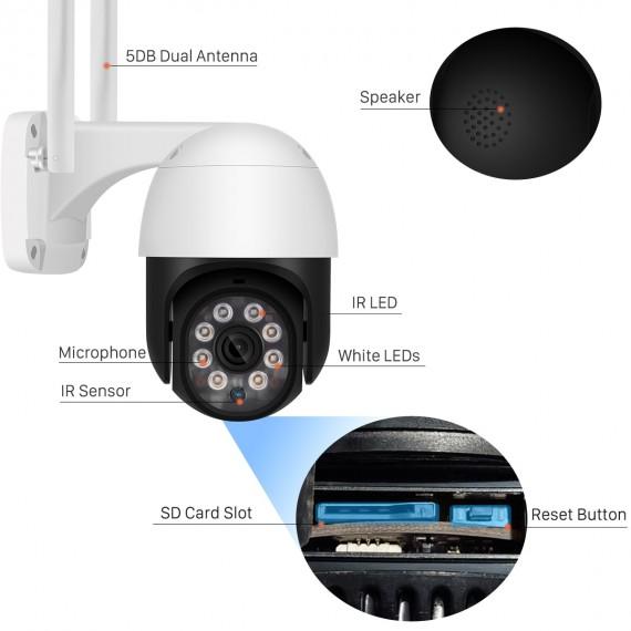 CamHi 4G PTZ Overvåkningskamera UltraHD