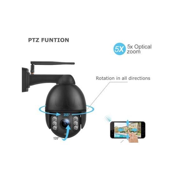 CamHi 4G PTZ Overvåkningskamera  UltraHD Zoom Overvåkningskamera